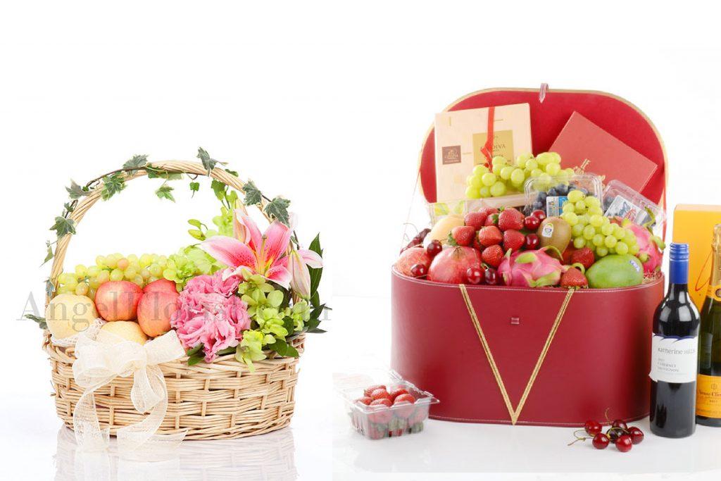 angel florist fruit basket