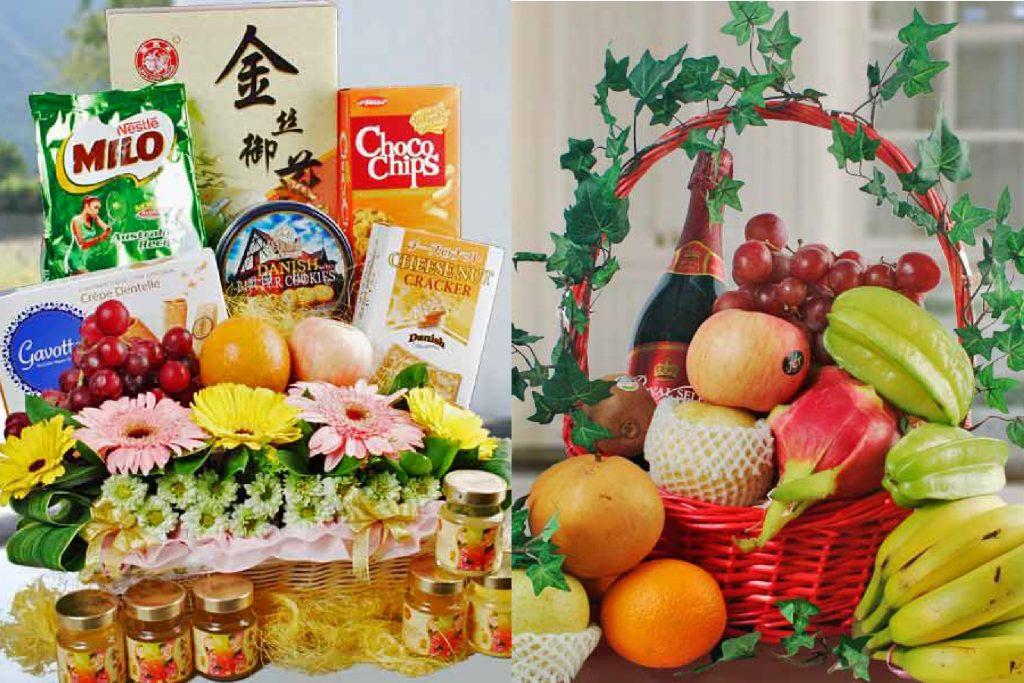 Singapore florist fruit basket
