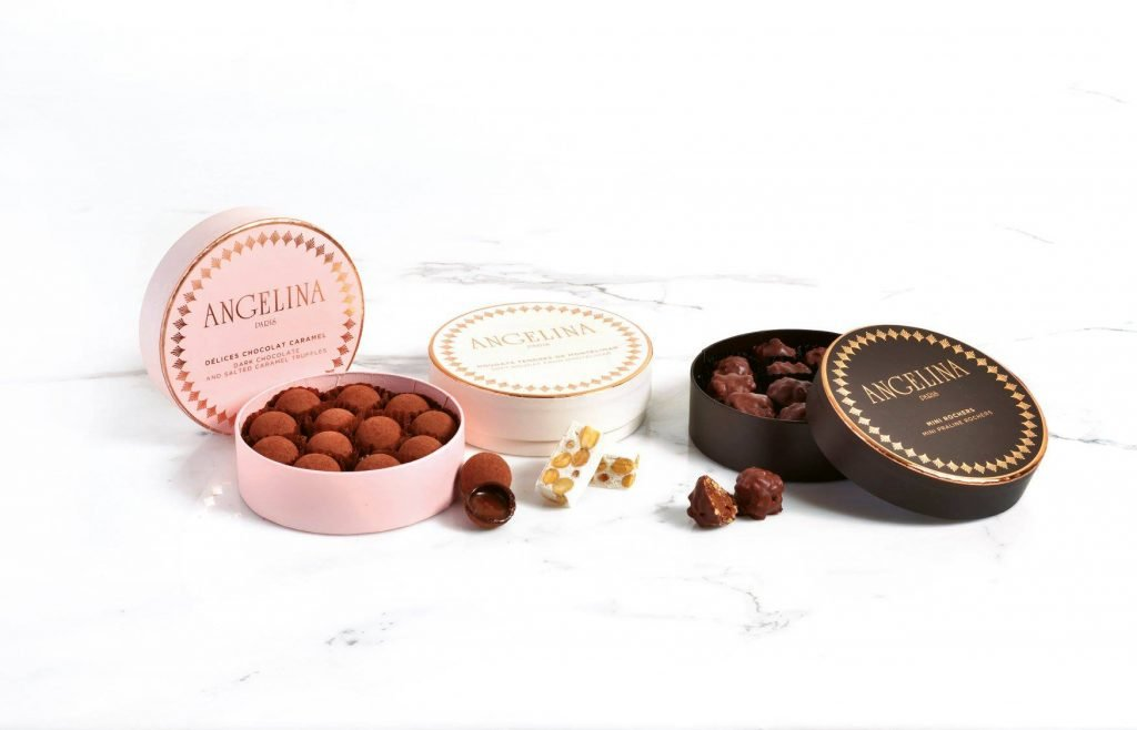Angelina Chocolate gifts | Angelina Facebook