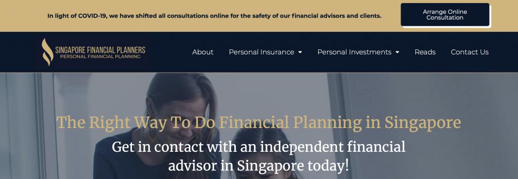 singapore financial planners pte ltd