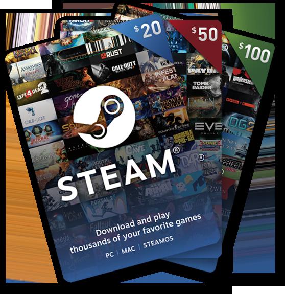 Steam gift cards | Taken from STEAM