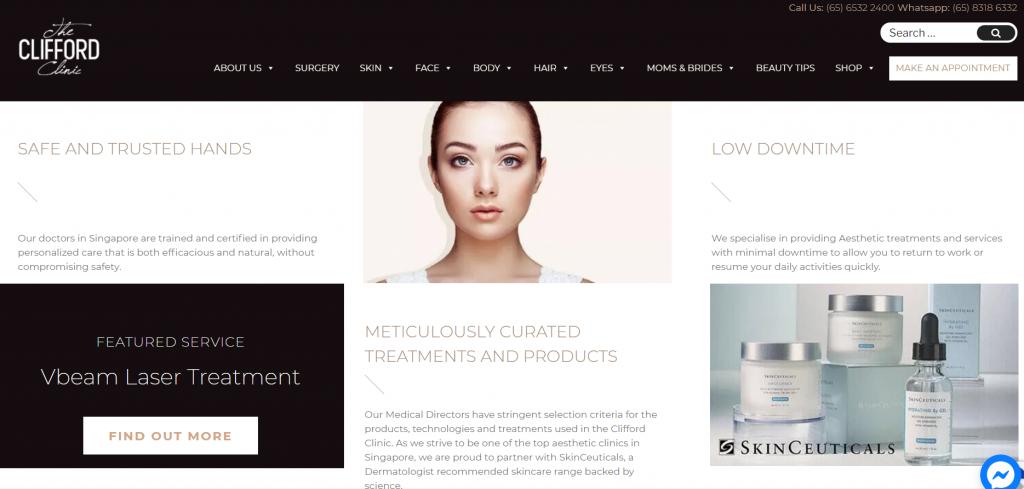 The Clifford Clinic Brazilian laser | Taken from website