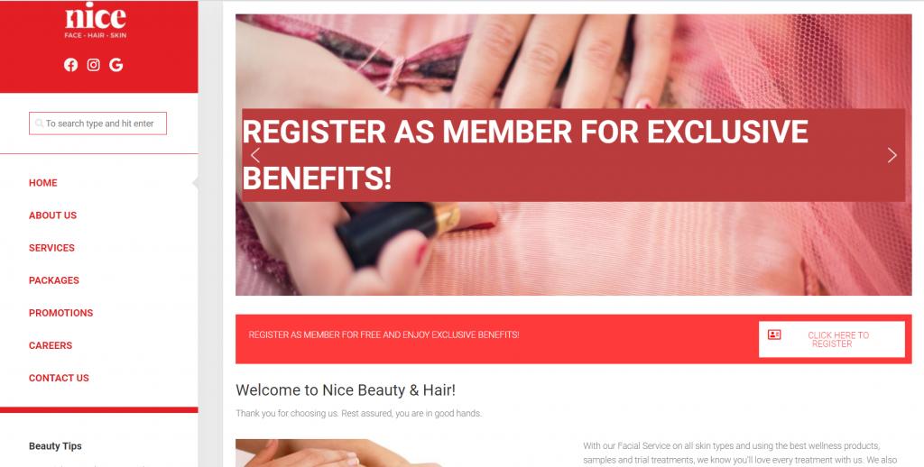 Nice Beauty waxing salon   Image taken from website